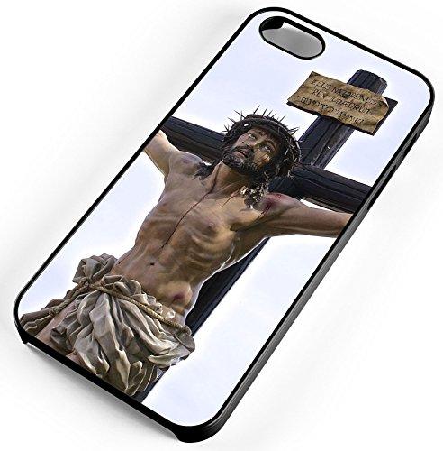 iPhone 7 Case Jesus God's Son Roman Crucify Forgive Sin Customizable TYD Designs in Black Rubber ()