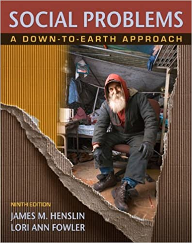 Social Problems A Down To Earth Approach 9th Edition James M