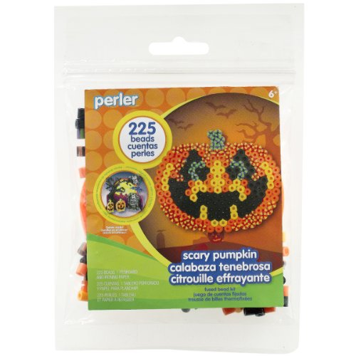 Perler Beads Spooky Pumpkin Halloween Activity Kit Craft for Kids, 227 pcs. -