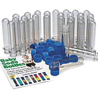 Baby Soda Bottles - Jumbo Plastic Test Tubes: Amazon.com ...
