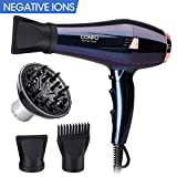 CONFU Professional Hair Dryer, 1875W Negative Ionic Hair Blow Dryer Fast Drying with 2 Speed & 3 Heat Setting, AC Motor with Diffuser, Comb & 2 Concentrator,ETL Certified