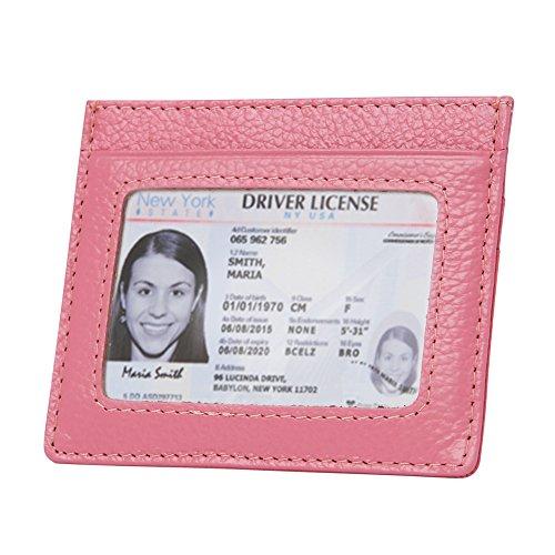Womens RFID Blocking Slim Card Holder Leather Minimalist Front Pocket Wallet