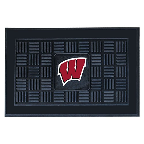 FANMATS NCAA University of Wisconsin Badgers Vinyl Door Mat