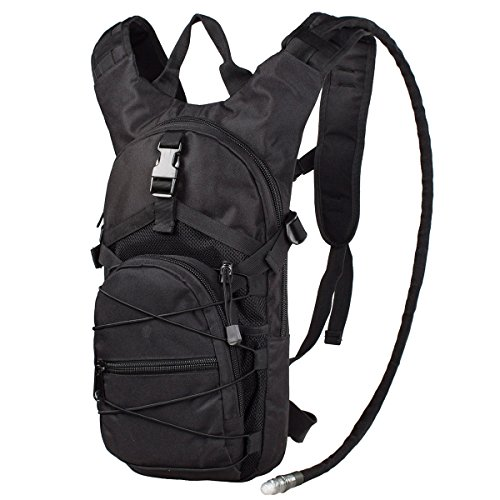 G4Free Hydration Pack Sports Runner Hydration Backpack with Bladder (19.68'x 8.26'x 4.72')(Black)