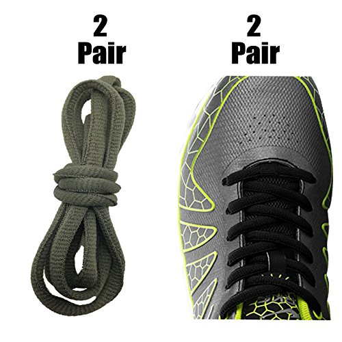 [4 Pairs] Replacement Shoelaces Shoe Laces,iBarbe Strings 45