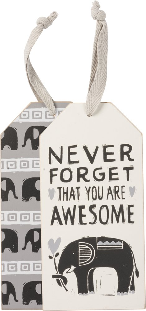 Bottle Tag - Never Forget, Set of 3
