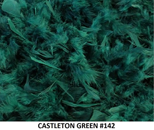 Cozy Glamour Over 35 Different Solid Color Boas by 6 Feet Long 50 Gram Weight (Castleton Green #142)