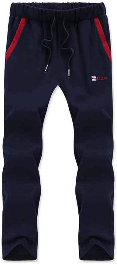 Nsdetyws - Pantalones de chándal para Hombre (algodón, a Rayas, Transpirables) Azul Azul Marino XXXXL: Amazon.es: Ropa y accesorios