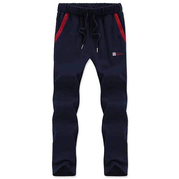 Nsdetyws - Pantalones de chándal para Hombre (algodón, a Rayas ...