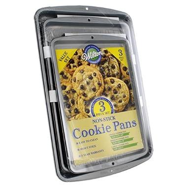 Wilton Non-Stick Cookie Pans, 3 Piece Value Set