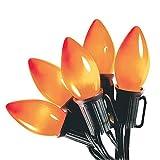 Sylvania Halloween Series V32527 C9 Orange Lights 25 Light outdoor use & 24 feet Light strand