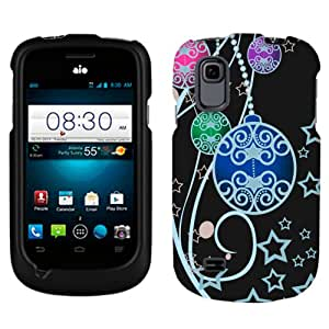 ZTE Prelude Christmas Ornaments on Black Phone Case Cover