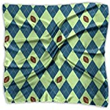 Seahawks Seattle Football Argyle Silky Square Scarf Kerchief Neck Scarf Headdress 39.4X39.4 Inth