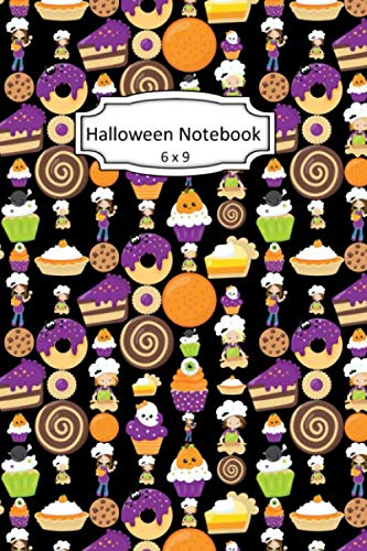 Halloween Sweets Clipart (Halloween Notebook: Sweet Treats Clip Art Images on 6 x 9 Blank Lined Softcover Journal for Notes , Halloween Gift Design Cover Note)