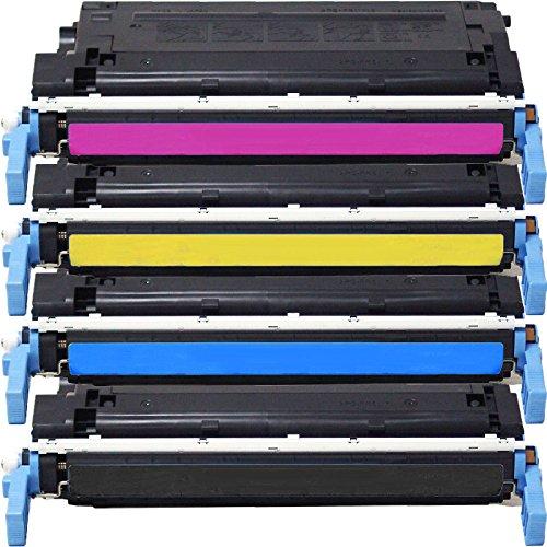 4 Inktoneram Replacement toner cartridges for HP 4600 641A C9720A C9721A C9723A C9722A Combo Pack LaserJet 4600 4600n 4600dn 4600dtn 4600hdn 4650 4650n 4650dn 4650dtn 4650hdn (4650n Laser Printer)