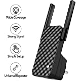 ROCK SPACE WiFi Range Extender - 300Mbps 2.4G WiFi Repeater Wireless Signal Booster, 1615 sq.ft (40 ft Range) 360 Degree Full Coverage N300 WiFi Range Extender Repeater. No Dead Zone, Simple Operation
