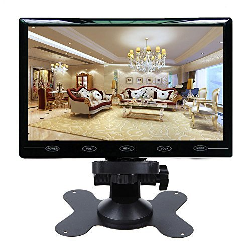 (CAIRUTE 9 Inch Ultra Thin 16:9 HD 1024600 TFT LCD Color Car Rear View Monitor 2 Video Input DVD VCD Headrest Vehicle Monitor Support Audio + Video + HDMI + VGA)