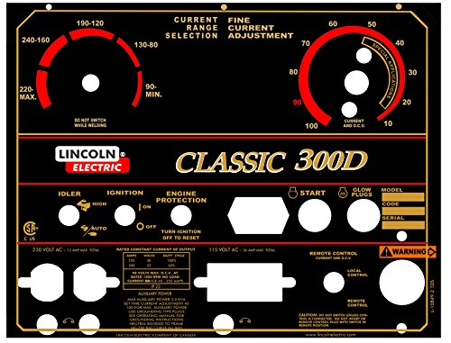 Lincoln Electric Arc Welder Pipeliner Classic 300D Aluminum