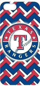 MLB Texas Rangers Iphone 5 Case Top Designer Texas Rangers Logo Durable White Hard Case Cover For Iphone 5