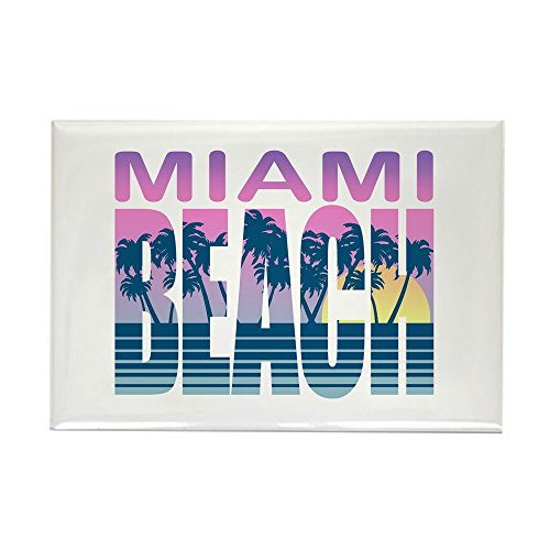CafePress Miami Beach Rectangle Magnet Rectangle Magnet, 2