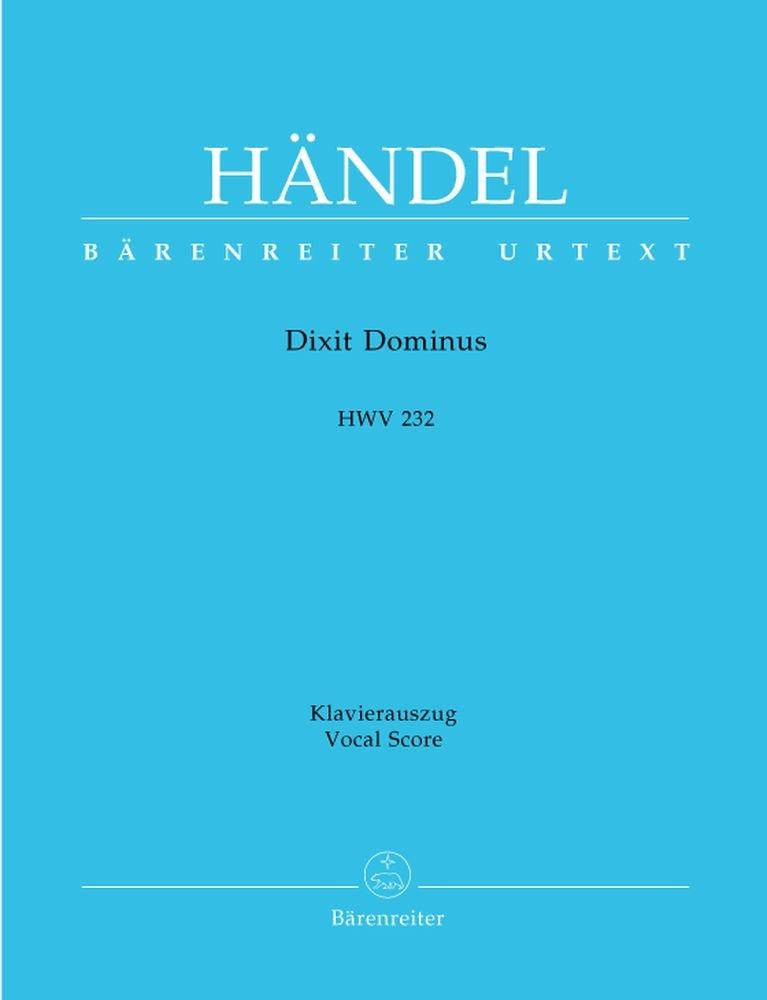 Dixit Dominus Domino meo HWV 232 . Klavierauszug: Amazon.es: Georg Friedrich Händel: Libros en idiomas extranjeros