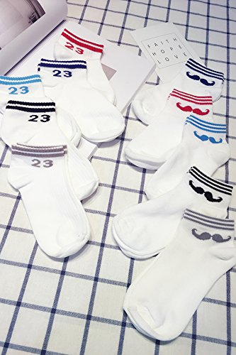 Generic women girls socks cute girl Slim _anti-foul_tide_ women girls socks _pure_ COTTON creative _Cartoon_moustache_digital_ fashion _personality_minimalist -