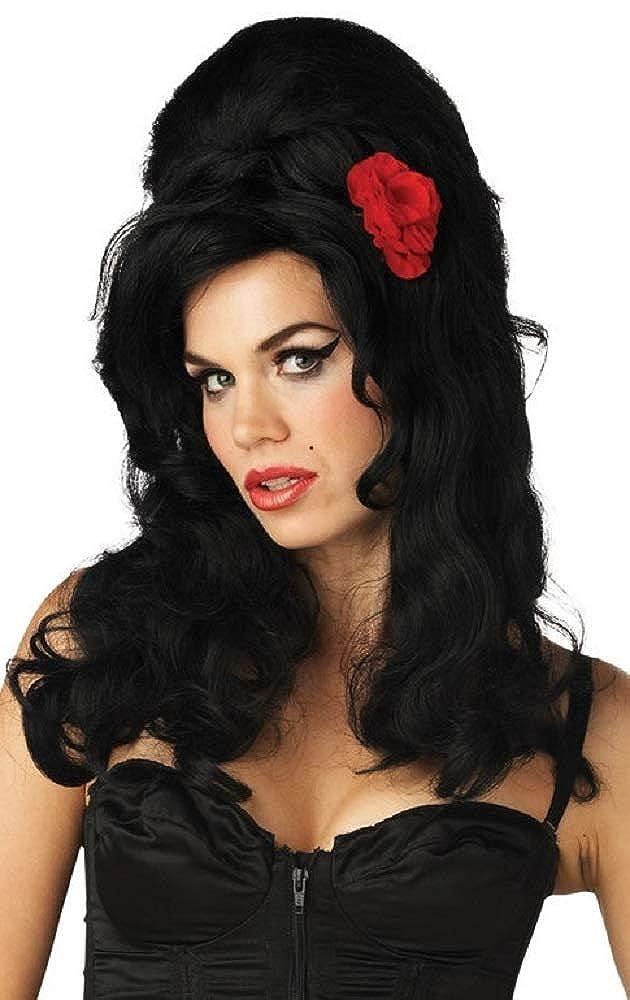 2 Amy Winehouse Style Celebrity Fancy Dress Costume Hen Night Beehive Wig Set
