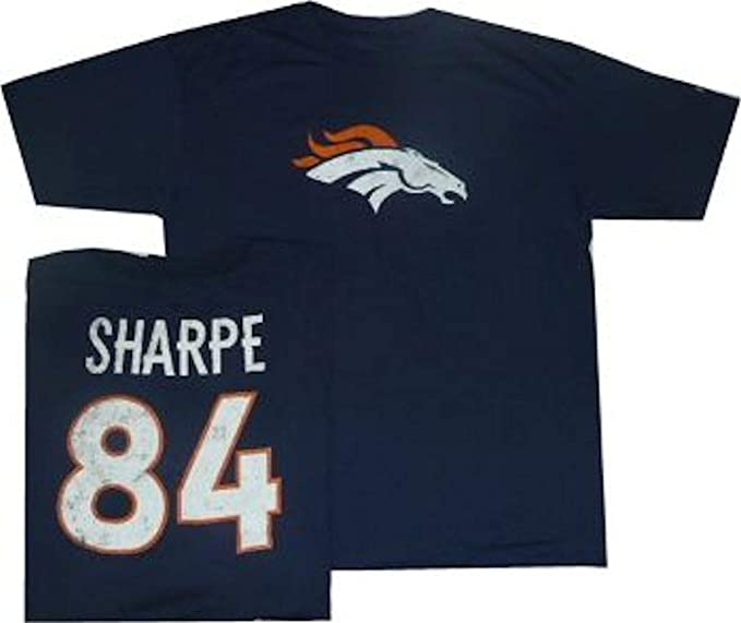 low priced 9be3c 60a67 Reebok Shannon Sharpe Denver Broncos Throwback Pro Style Oversized T Shirt