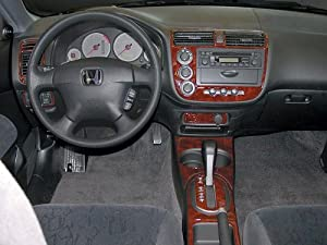 Honda civic interior burl wood dash trim kit - 2004 honda accord interior parts ...
