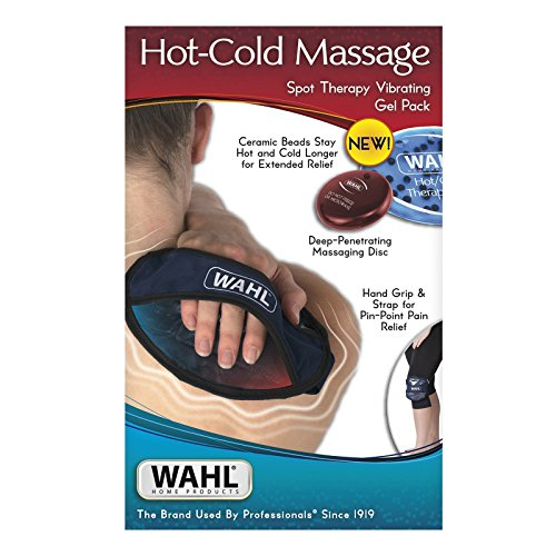 Wahl Hot Cold Massage Spot Therapy Vibrating Gel Pack, 4093; Hot+Cold+Massage for Enhanced Pain Relief of Back and Body Aches, Pain, Tension, Knots, Stress, or for Relaxation, 4093