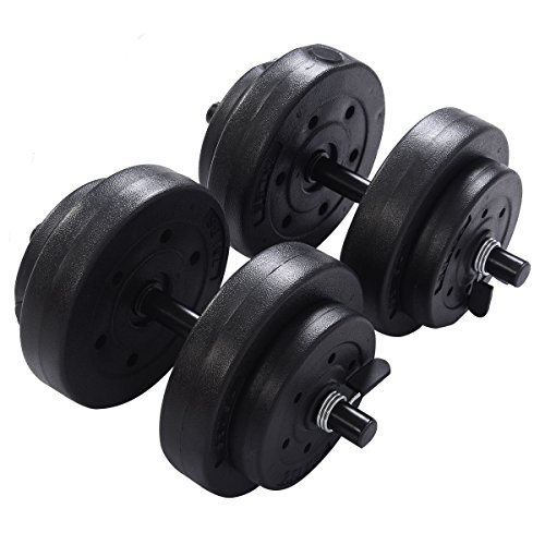 Goplus® Weight Dumbell Set 40 LB Adjustable Cap Gym Barbell Plates Body Workout