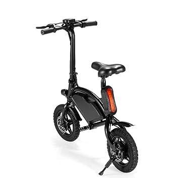 DAHEMA Vespa Eléctrica 12 Pulgadas Bicicleta Eléctrica del Cuerpo Plegable, Rango De 12 Millas,