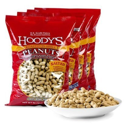 Hoody's In-Shell Peanuts Roasted Salted 4-pack by Hoody's
