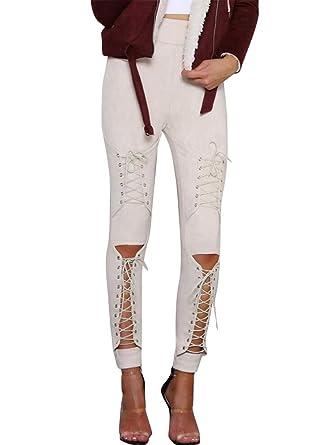 Minetom Pantalon Femme Jogging Casual Sports Leggings Taille Haute ... 55c01c87ebe
