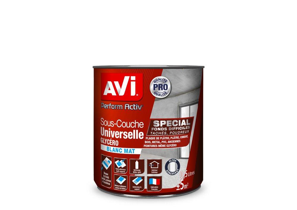 Sous-couche Universelle Glycé ro, Avi Perform Activ - Blanc Mat, 0,5L PPG