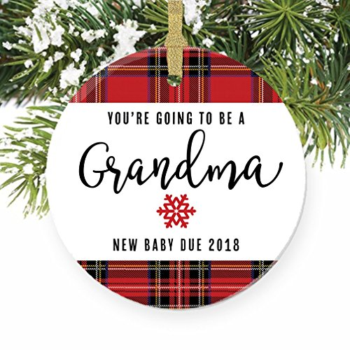 You're Going To Be A Grandma Ornament, 2018 Pregnancy Announcement, New Grandmother Gift, 3