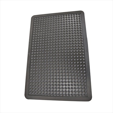 Rubber-Cal 03_184_ZWBK Bubble Top Anti-Fatigue Rubber Floor Mat, 5/8