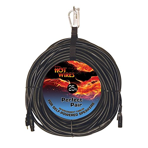 (On-Stage Hot Wires Perfect Pair Powered Speaker Interconnect Cable Assembly, 25 Feet)