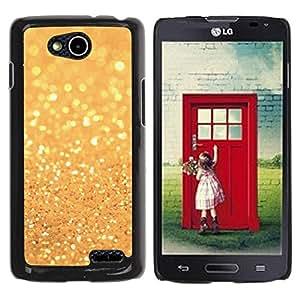Paccase / SLIM PC / Aliminium Casa Carcasa Funda Case Cover para - Glitter Golden Shining Bright Bling - LG OPTIMUS L90 / D415