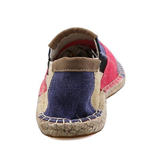 Espadrillas Colore Moda Casuali Slip Rosso On Basse Cinese Flats Unisex Scarpe Colpisci Comfort xZUga0wwq