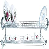 Dish Rack Solid Chrome with Draining Tray 22inch