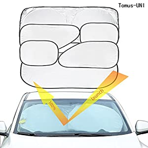 Tomus-UNI 6 Piece Car Window Sunshade Protector Foldable Windshield UV Reflector Protector Keeps Vehicle Cool
