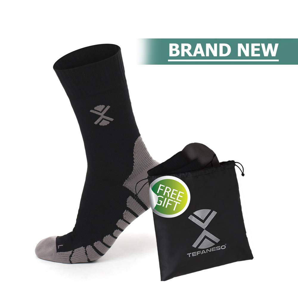 100% Waterproof Socks for Men and Women. Ideal Outdoor & Waterproof Hiking Socks. FREE Sock Bag TEFANESO