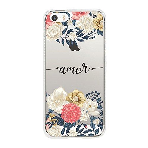 Capa Personalizada Amor Flores Grandes, Husky para iPhone SE / 5 / 5S, Capa...