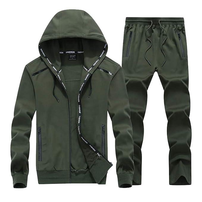 2c53eae514 Amazon.com: JustJoin Tracksuit Men Jog Clothes Spandex Active wear ...
