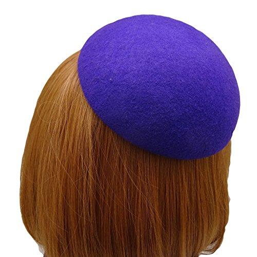 HATsanity Women's Vendimia Textura de lana Llanura Mini Boina Estilo Fascinador Púrpura