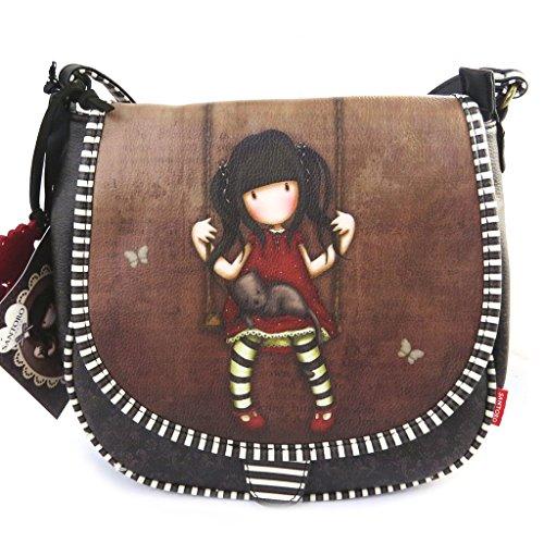 Amazon.com: Shoulder bag Gorjuss Santoro brown.: Clothing