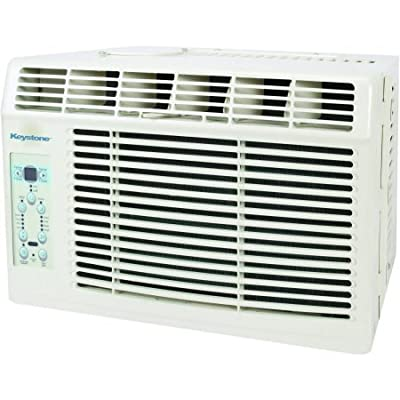 "Keystone KSTAW06B Energy Efficient 6,000-BTU 115V Window-Mounted Air Conditioner with ""Follow Me"" LCD Remote Control"