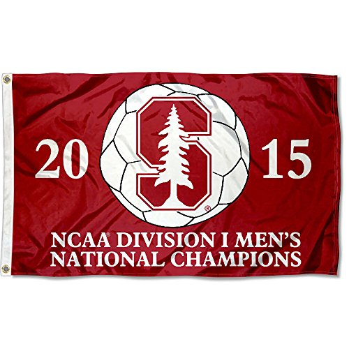 College Flags and Banners Co. Stanford Cardinal 2015 Men's Soccer Champs Flag by College Flags and Banners Co.