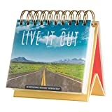 DaySpring Live It Out, DayBrightener Perpetual Flip Calendar, 366 Days of Inspiration (77914)